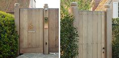 Houten Tuinpoorten Shed Design, Gate Design, Cosy Garden Ideas, Diy Shed Plans, Contemporary Garden, Outdoor Living, Outdoor Decor, Garden Gates, Dream Garden