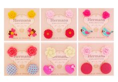 12 Pairs Lot of Cute Kids Plastic Soft Post Stud Earrings for Special Girls #Stud