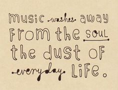 Music. Removes Dirt, Dust and Grime