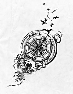 New pine tree tattoo compass 57 Ideas Compass Tattoo Design, Wing Tattoo Designs, Half Sleeve Tattoos Designs, Design Tattoos, Cross Tattoo On Wrist, Small Cross Tattoos, Small Tattoos, Wörter Tattoos, Basic Tattoos