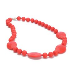 Chewbeads Perry Necklace » Cherry Red
