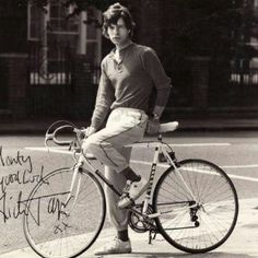 Mick | rolling stones | bike ride | vintage photograph | signed | picture | music | inspire | www.republicofyou.com.au