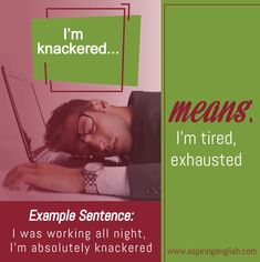 Here's example what to say when you feel tired! #learnenglish #manchester #englishlanguage