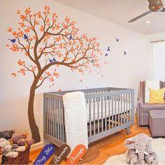 2.1M High Huge Tree Wall Decal Vinyl Sticker Baby Nursery Tree Birds Bedroom Wall Mural Kids Wall Sticker Art Home Decor A-158