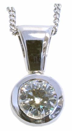 #Diamond #solitaire pendant with 0.46carat total diamond weight in 14k white gold
