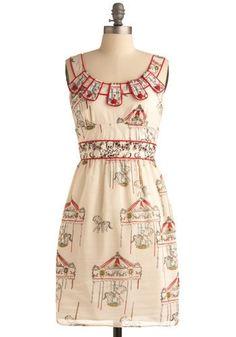 Flying Horses Dress | Mod Retro Vintage Printed Dresses | ModCloth.com - StyleSays
