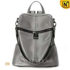 Leather Travel Backpack Womens CW207007 www.cwmalls.com Fashion leather travel backpack for women made of natural full grained cowhide leather in black, grey. Shop the classic leather backpack from CWMALLS, the bag can convertible to shoulder bag, backpack, a shoulder strap. and adjustable backpack straps. www.cwmalls.com  PayPal Available (Price: $177.89) Email:sales@cwmalls.com