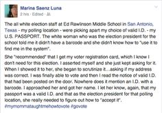 This is what voting looks like for people of color in Texas today  via Aura Bogado