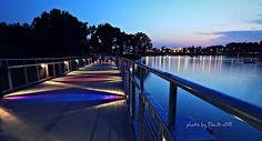 Walking Bridge Sunset - Grays Lake, Des Moines