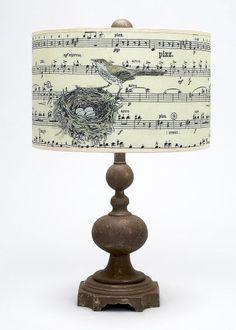 DIY Inspiration: Vintage Sheet Music Lamp Shade
