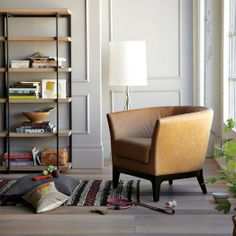 Tulip Leather Chair by west elm, for a cozy library.