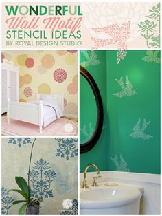 Wonderful Wall Art and Motif Stencils on Sale at 20% discount through April 20th, 2014. Use promo code: MOTIF20 | Royal Design Studio