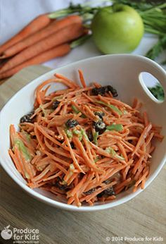 4-Ingredient Carrot Raisin Salad - Add a twist to a simple carrot raisin salad with mango chipotle dressing. This recipe is so quick, easy and versatile that you'll find many uses for it. /explore/glutenfree /search/?q=%23eggfree&rs=hashtag /search/?q=%23nutfree&rs=hashtag /search/?q=%23soyfree&rs=hashtag /explore/vegetarian /explore/recipe /search/?q=%23ProduceforKids&rs=hashtag