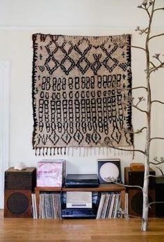rug-hanging on wall