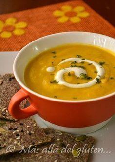 Más allá del gluten...: Crema de Zanahoria con Jengibre (Receta SCD, GFCFSF, Vegana)