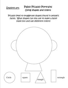 Elements Of Art Worksheets | This was our warm up worksheet. Let your child name the shapes and ...
