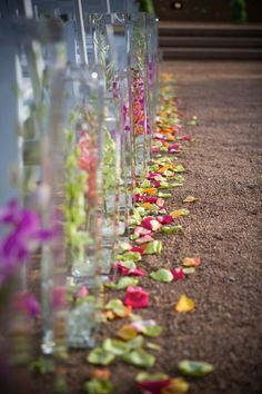 Submerged Flower Ceremony Aisle Decor