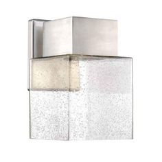 Home Decorators Collection Essex Brushed Nickel Outdoor LED Powered Wall Lantern HB7054A-35 at The Home Depot - Mobile