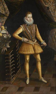 Antonio de Succa (before 1567–1620) Portrait of Philip III of Spain. Date between 1598 and 1620
