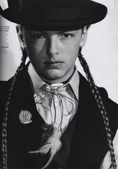 Love the braids + (Assembly?) hat combo, if not too much for BoysByGirls.