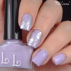 Purple, lavender, accents, studs, silver, stamping, flowery,