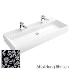 Villeroy & Boch Memento double washbasin black New Glory Platinum CeramicPlus with 2 tap holes