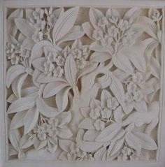 amahhh-zing 3 dimension stone carvings - should have carried it on my lap, all 22 hours of flight! Plaster Sculpture, Concrete Sculpture, Plaster Art, Book Sculpture, Wall Sculptures, 3d Wall Art, Mural Art, Wood Carving Patterns, Biscuit