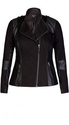 Plus Size Jacket - City Chic [ HGNJShoppingMall.com ] #fashion