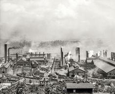 "INDUSTRY: Carnegie Steel Works Circa 1905. ""Carnegie Steel Plant, Homestead, Pennsylvania."""