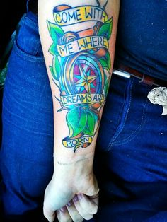 Peter pan inspired tattoo. #peterpan #tattoo #peterpantattoo #inspirational