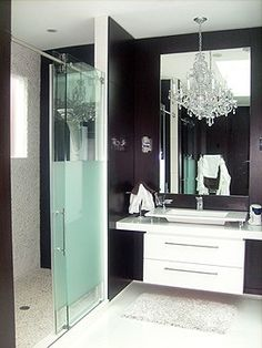 "Modern Stainless Steel GLASS SLIDING SHOWER DOOR HARDWARE, $280, 78"" rail"