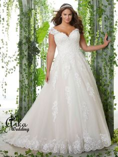 Νυφικα Φορεματα, ΔΑΝΤΕΛΑ: Νυφικό Φόρεμα με Ράντα, για Παχουλή Νύφη, από Δαντέλα. Κωδ. 3254 Wedding Dress Pictures, Colored Wedding Dresses, Perfect Wedding Dress, White Wedding Dresses, Wedding Dress Organza, Wedding Dress Sizes, Plus Size Wedding, Gown Wedding, Tulle