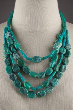 El Dorado Necklace - Turquoise Necklace, Handcrafted, Beaded