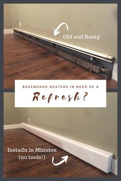 home maintenance,home repairs,home fixes,home remodeling Baseboard Heater Covers, Baseboard Heating, Electric Baseboard Heaters, Home Improvement Projects, Home Projects, Diy Home Repair, Home Repairs, Baseboards, Baseboard Ideas