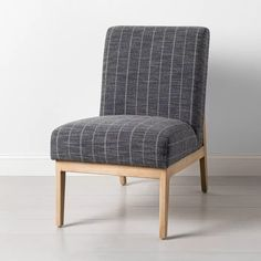 Upholstered Natural Wood Accent Chair Hearth Amp Hand