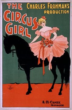 Hurry, hurry, step right up and see the Circus Girl (in yesteryear theaters). #vintage #theater #poster #circus
