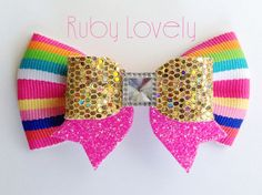 """Hey, I found this really awesome Etsy listing at <a href=""""https://www.etsy.com/listing/233259845/neon-bows-gold-glitter-bow-neon-pink-bow"""" rel=""""nofollow"""" target=""""_blank"""">www.etsy.com/...</a>"""