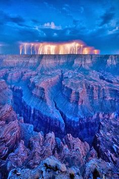 Lightning at Grand Canyon, Arizona, USA