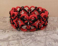 Celtic Labyrinth Stretch Bracelet in Red & Black - Edit Listing - Etsy