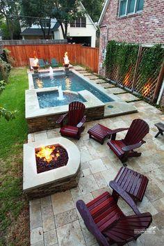 Pool for Small Backyard . Pool for Small Backyard . Pin On Pool Design Small Backyard Landscaping, Backyard Patio, Landscaping Ideas, Backyard Seating, Privacy Landscaping, Small Patio, Privacy Deck, Desert Backyard, Small Backyard With Pool