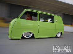 Dude... that is one low van. Its a 1969 Subaru 360 Micro Van.