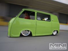 Dude... that is one low van. Its a 1969 Subaru 360 Micro Van.
