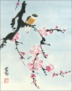 http://www.janzaremba.com/Sumi-e/FI/files/plum-and-yellow-bird.jpg