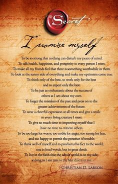 I promise myself: / 1.17.2014 Daily Affirmations ♥Debbie / click to enlarge and read, I should read this every day! / quotes for inspiration