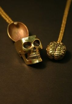Skull and brain, cute for sister!!