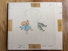 Rust Craft Card Original Painting by Erica Von Kager Brownie