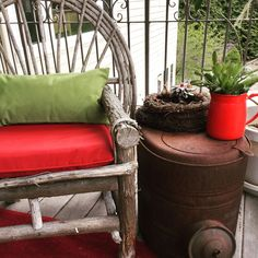 A forgotten, rusted pot belly stove has found its way onto my porch as a side table #myfavoritethings #myporch #newleaseonlife #rustaddscharacter #repurposed #salvaged #quirky #charm #gardendecor #ilovejunk #countrylife #oldisgold #rustedrevival #rusticdecor
