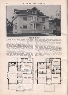 Design K 1012 - from Attractive homes by Max L. Keith, Published 1912 192 p. ; ill., plans ; 26 cm. ; trade catalog
