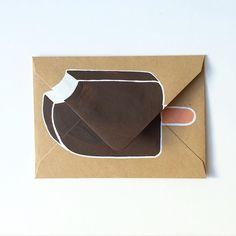 Ice cream bar envelope