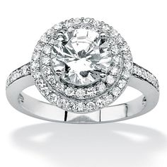 <li>Clear cubic zirconia engagement ring</li><li>Platinum over sterling silver jewelry</li><li><a href='http://www.overstock.com/downloads/pdf/2010_RingSizing.pdf'><span class='links'>Click here for ring sizing guide</span></a></li>